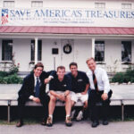 1998. David Muir, Chris Hart (photographer), Al Lauricella (photographer) and Matt Mulcahy cover First Lady Hillary Clinton's visit to the Harriet Tubman House in Auburn during her Save America's Treasures Tour.