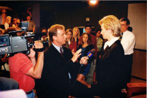 Summer of 2000. Interview with First Lady Hillary Clinton in WTVH studios as she prepared her run for senator from New York.