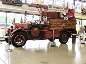 A 1925 Brockway fire truck that four people drove 17,000 miles from Argentina to Cortland during WW I.