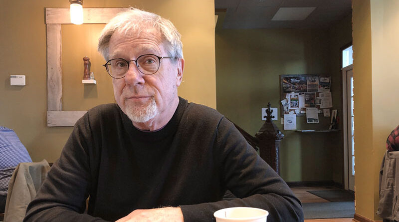 Author Paul Kocak at Salt City Coffee on West Onondaga Street in Syracuse. He has published three books this year.
