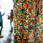 Add your own bubble gum at Market Theater Gum Wall.