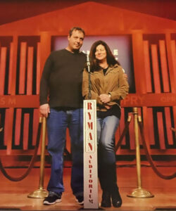 On a visit to Nashville, Mimi Griswold and her husband, Bob, toured he famous Ryman Auditorium, best known as the home of the Grand Ole Opry from 1943 to 1974. Photo provided