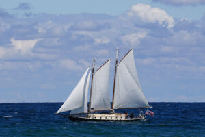 Reach With Clouds schooner owned by Susan Gateley.