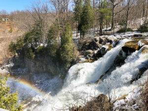 Chittenango Falls State Park  Hike to the footbridge for an impressive view of this 167-foot waterfall.