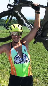 """Mark Person's advice to everyone, regardless: Be the best version of your aging self that you can be. He dreams about someday being the 90-year-old guy at the podium who finishes an Ironman race. He pays attention to his diet. """"I haven't put a quarter in a vending machine since I was 25 years old,"""" he says. Photo provided."""