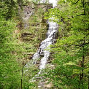 Pratt Falls Park  As reward for your hikes through the gravel trails of Pratt Falls is this impressive, 137-foot waterfall.
