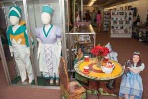 """All Things Oz Museum includes more than 15,000 pieces with between 1,200 and 1,400 on exhibit at any time, including original props and costumes from """"The Wizard of Oz"""" productions, Judy Garland's autograph, 1939 MGM munchkin actor appearance costumes, and more Oz artifacts."""