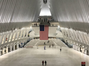 Designed by Spanish architect Santiago Calatrava, the Oculus — next to the 9/11 Memorial at Ground Zero — opened in 2016.