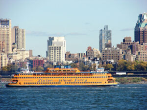 The Staten Island Ferry has been carrying passengers between Manhattan and Staten Island since 1905. The ferry runs 24 hours a day year round.