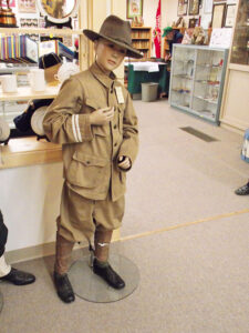Rare uniform: The first uniform of the Boy Scout of America from 1910. It is one of the more valuable items on display at The William Hillcourt Scout Museum and Carson Buck Memorial Library.