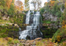 Chittenango Falls State Park in Chittenango features a 167-foot waterfall and gorge trail.