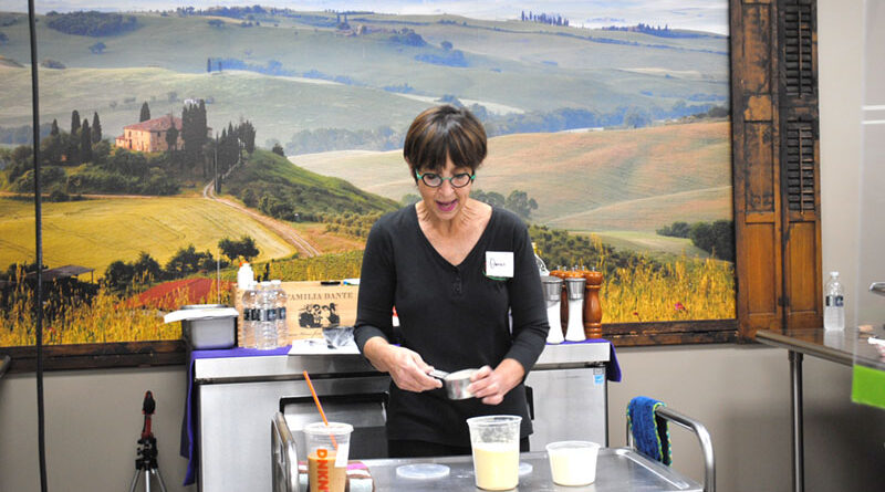 Cooking instructor Donna Pascarella teaches a fettuccine-making class at Vince's Gourmet Imports in North Syracuse. During the pandemic, she created several cooking videos that were emailed to clients and posted online.