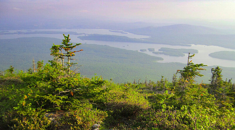 View from Bigelow Mountain in Maine
