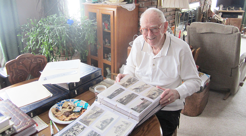 "Derwin ""Doc"" Jones of the village of Phoenix in Oswego County has devoted most of his retirement time working on his collection of post cards. He has accumulated more than 5,000 cards. Jones has been the president of the Post Card Club of Oswego County since 2000."