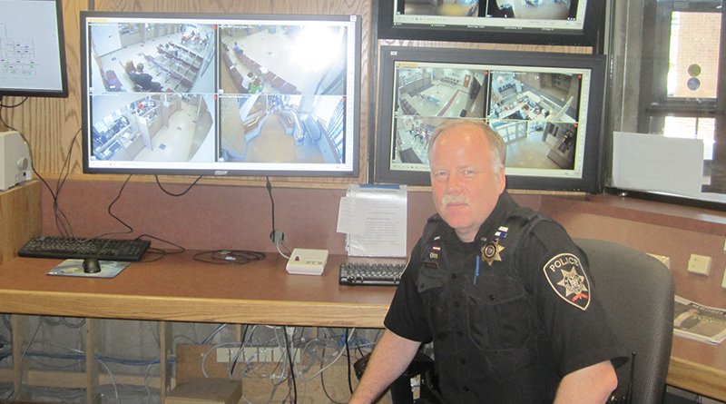 Lt. John Anderson stands at the current command post of the special patrol unit in Onondaga County, currently based in the Onondaga County building complex in downtown Syracuse.