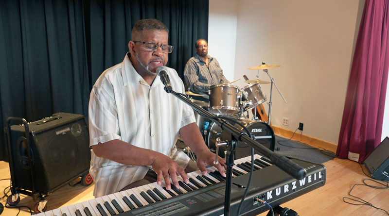 After many ups and downs, Sam Wynn, 63, is back on playing  keyboards.  He also helps homeless, youths and less-fortunate people around town. Photo courtesy of Rescue Mission.