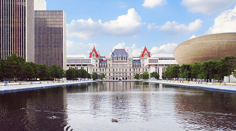New York State Capitol and Empire State Plaza in Albany.
