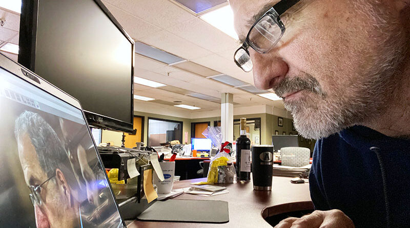 Kevin Rivoli returned to work at The Auburn Citizen newspaper on Dec. 7, after a near-fatal car accident on Aug. 3.